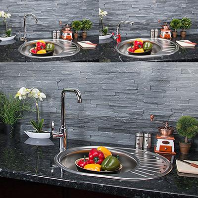 Acciaio inox lavello cucina tondo lavandino incasso zub ebay - Lavello cucina rotondo ...