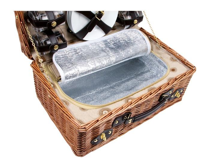 edler picknickkorb family porzellan k hltasche 4 personen bastkorb 2in1 neuware ebay. Black Bedroom Furniture Sets. Home Design Ideas