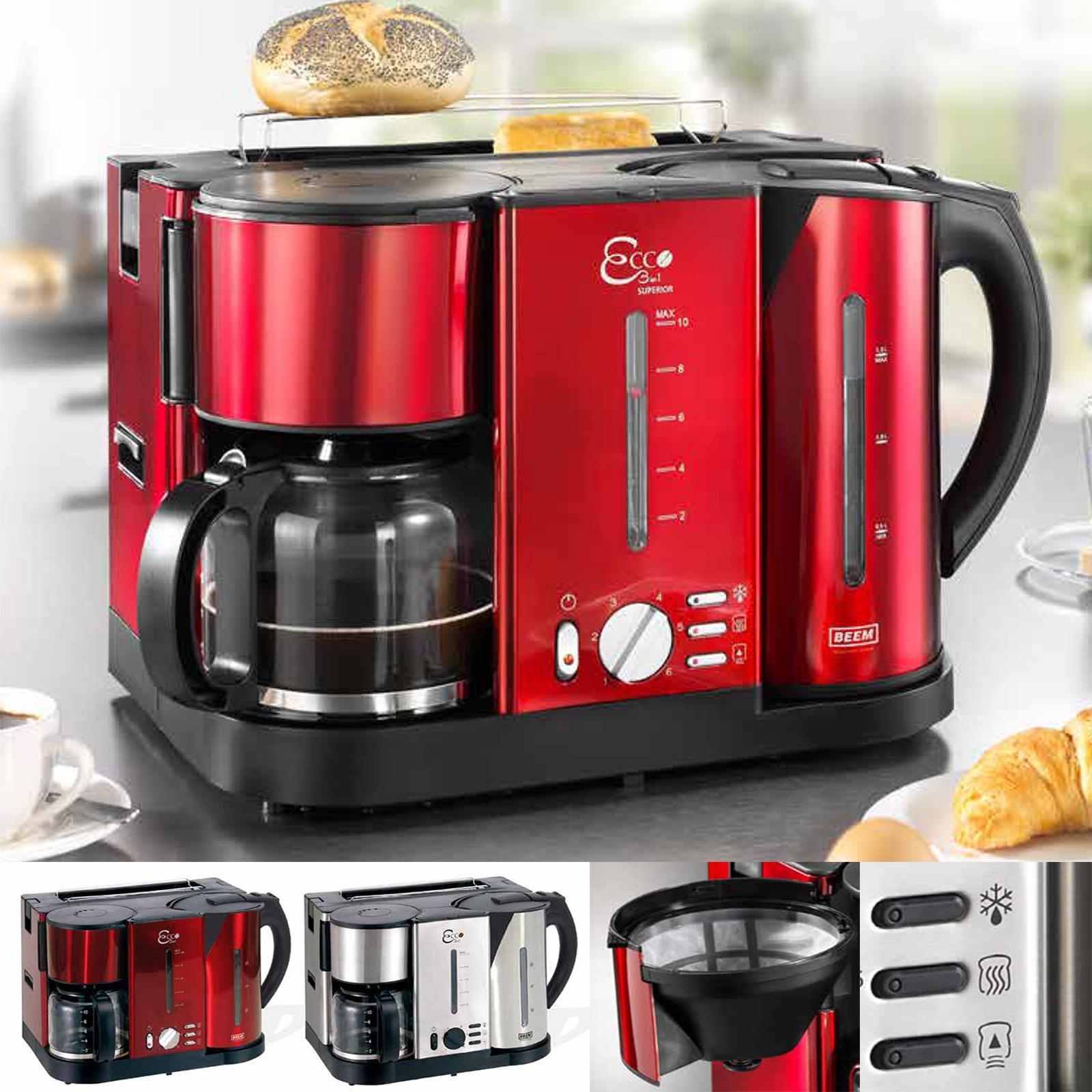 3 in 1 fr hst ckscenter fr hst cks toaster kaffemaschine wasserkocher in 2 farbe. Black Bedroom Furniture Sets. Home Design Ideas