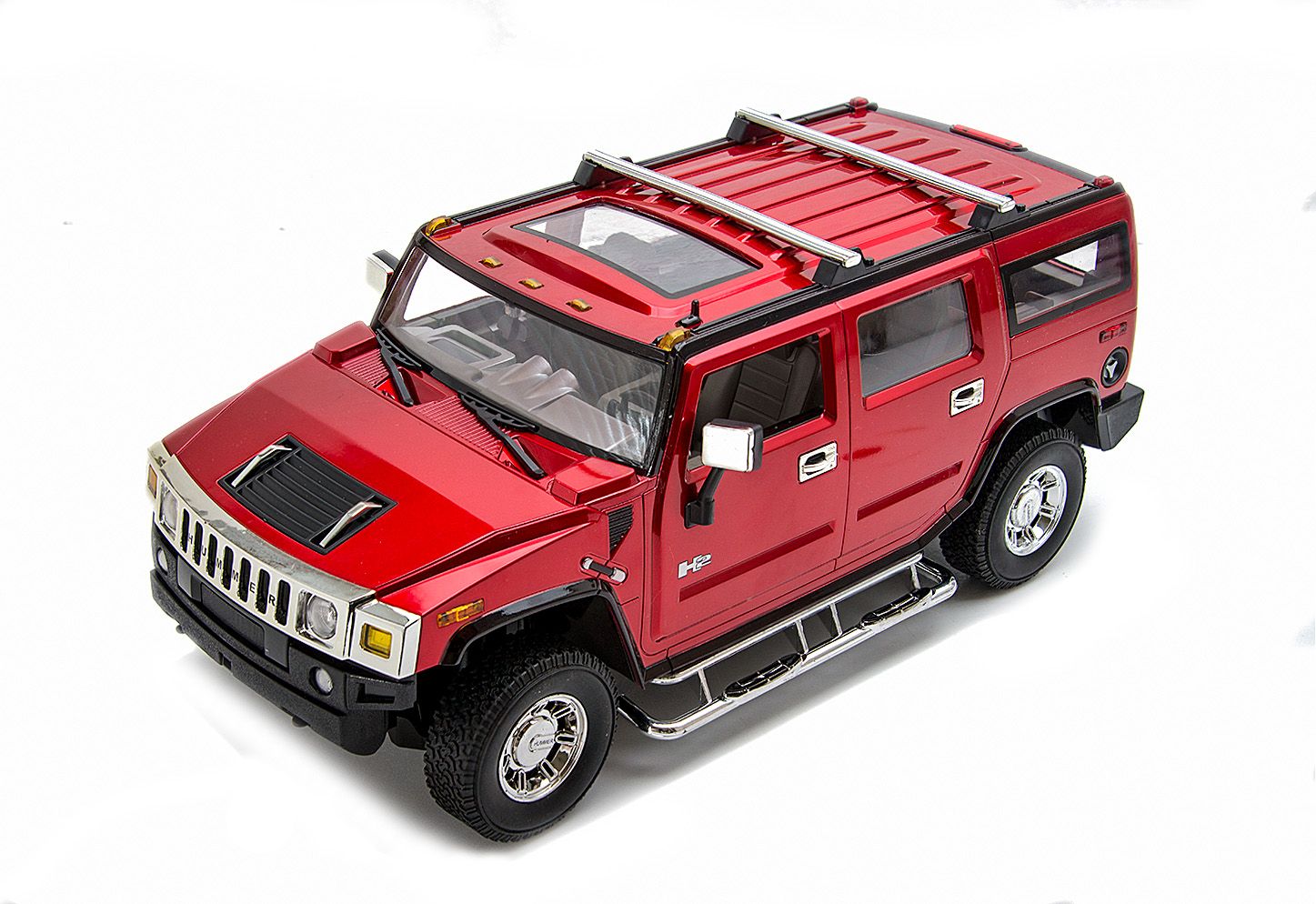 hummer h2 ferngesteuert modellauto rc mit licht lizenz car. Black Bedroom Furniture Sets. Home Design Ideas
