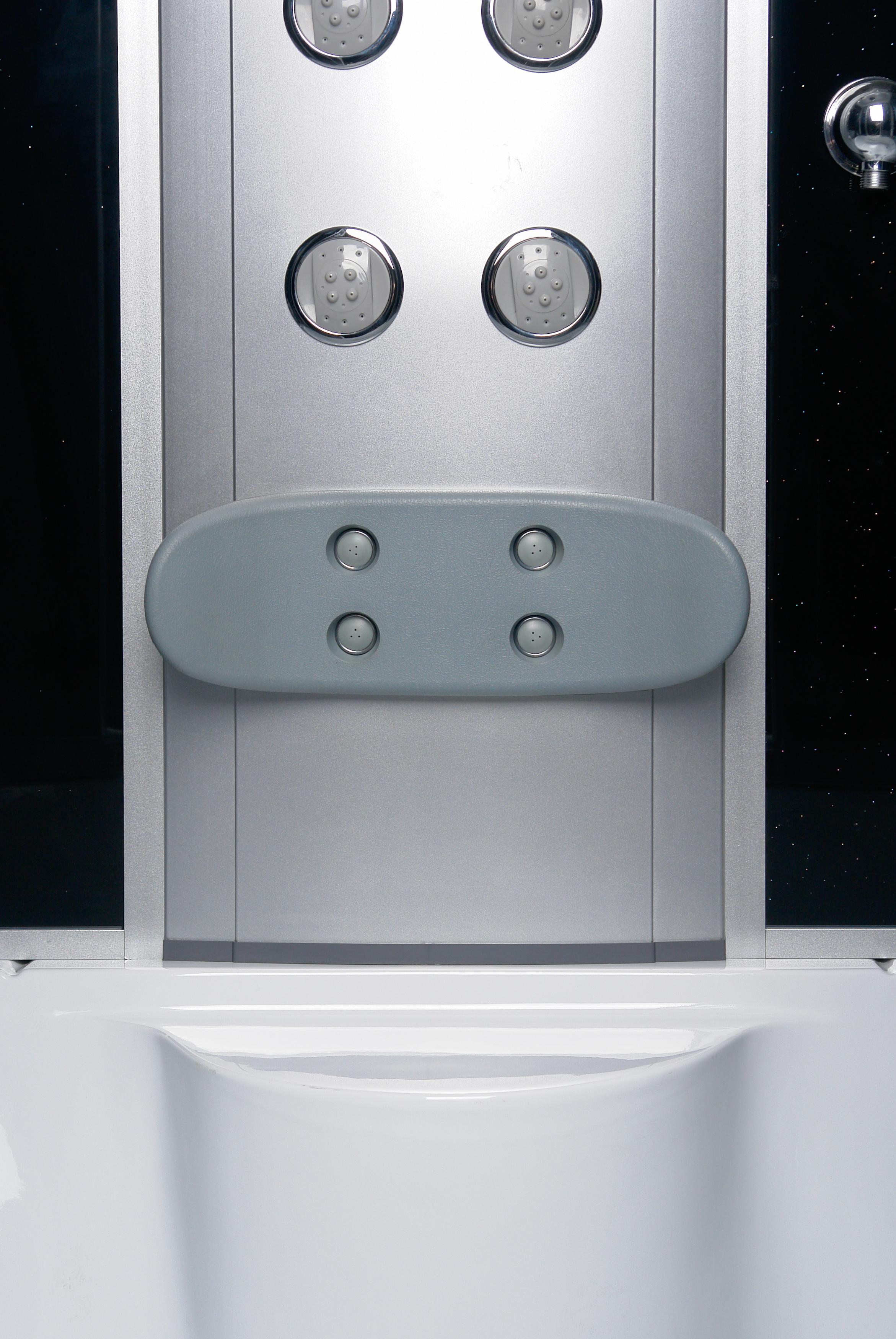 cabine de douche baignoire pluie paroi avec si ge et led. Black Bedroom Furniture Sets. Home Design Ideas