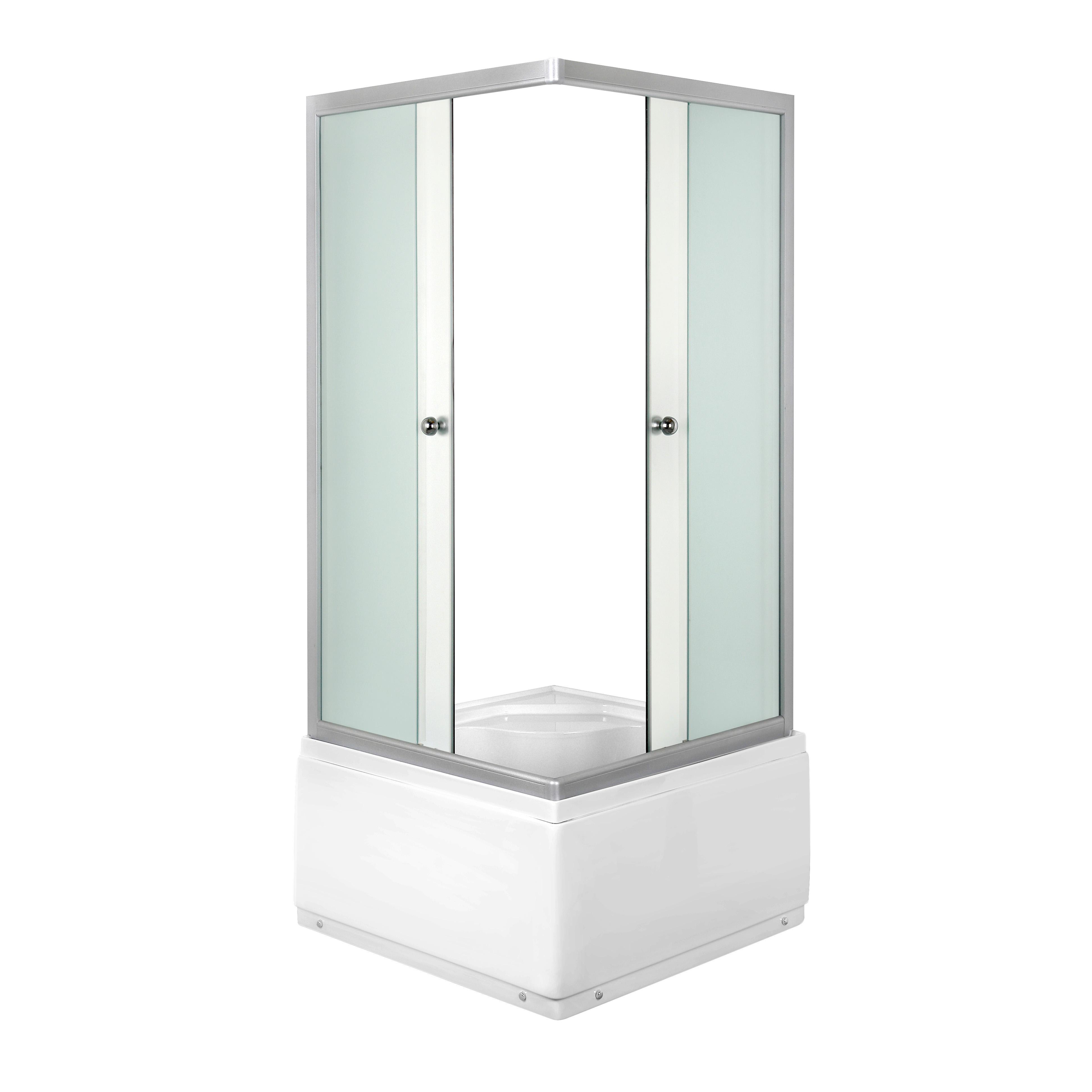 Duschkabine 80 x 80 cm Fertigdusche Dusche Duschwand DUSCHTEMPEL mit ...