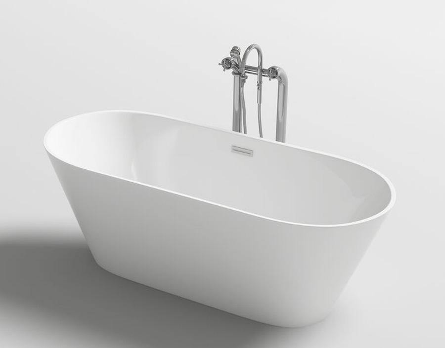 Freistehende Badewanne Wanne Design Acrylwanne freistehend 170 x 80 ...
