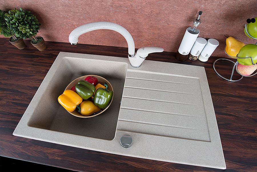 Granito fregadero cocina integrado lavabo grifer a sif n for Sifon fregadero cocina
