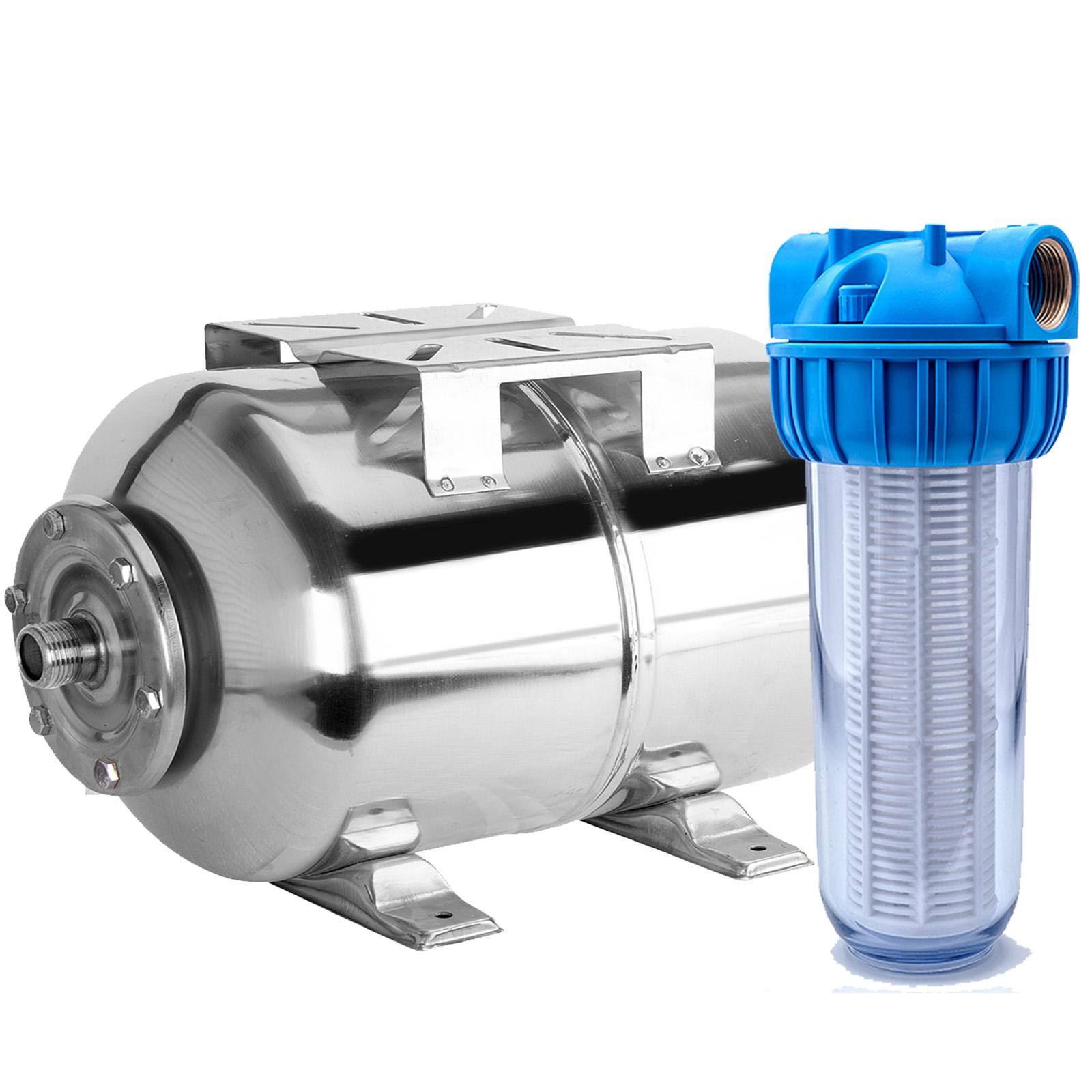 24l edelstahl hauswasserwerk membrankessel ausdehnungsgef 24 liter druckkessel ebay. Black Bedroom Furniture Sets. Home Design Ideas