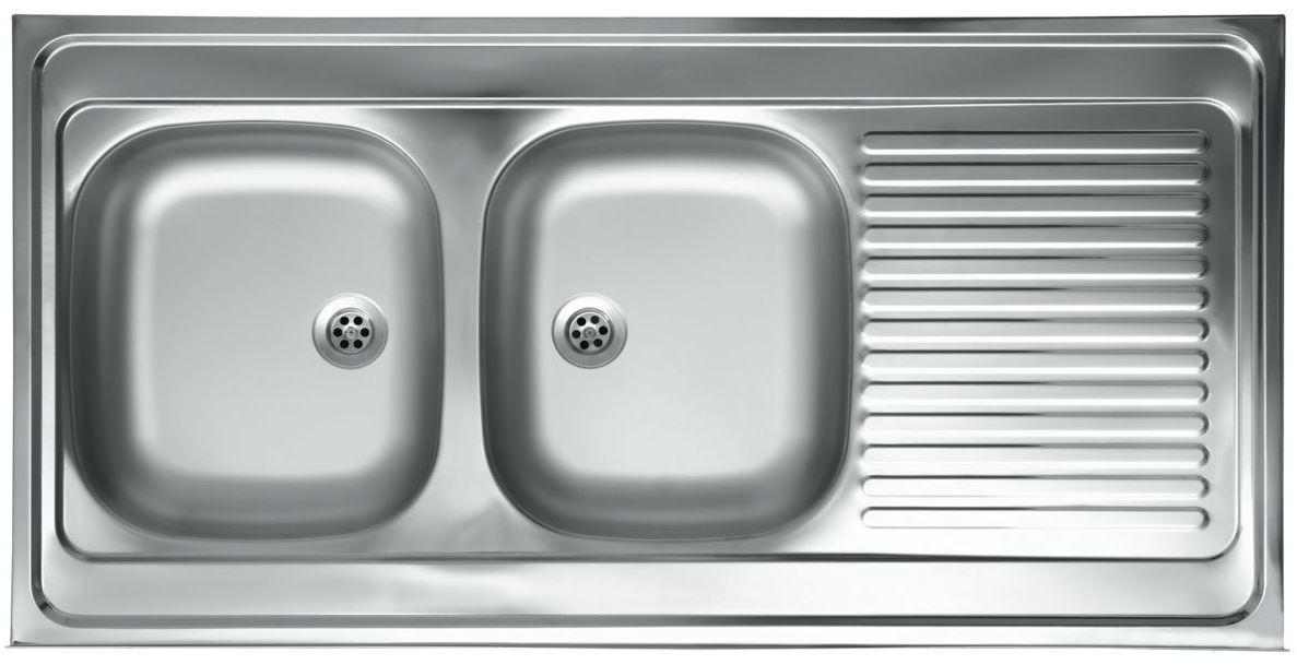 Edelstahl 2 Becken Küchenspüle Einbauspüle Küchen Spüle Spülbecken ...