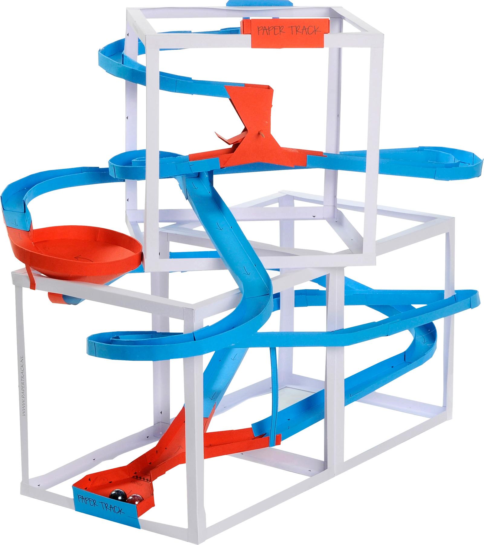 murmelbahn papertrack kugelbahn kinder spielzeug 4 8 10 meter rolllbahn bausatz ebay. Black Bedroom Furniture Sets. Home Design Ideas