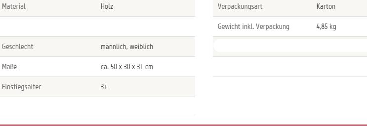 Lauflernwagen Holz Gummireifen ~ Bollerwagen Handwagen für Kinder Holz Gummireifen ca 50 x 30 x 31 cm