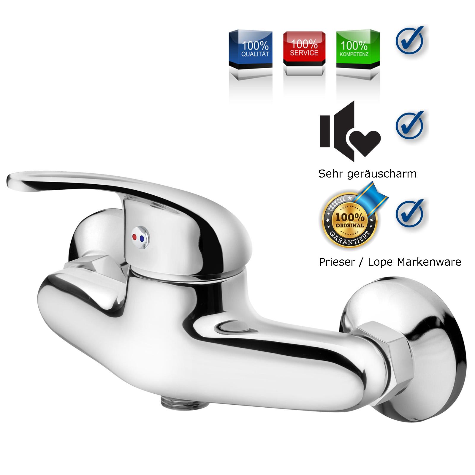 Duscharmatur Design Armatur Chrom Wasserhahn Mischbatterie Einhebel ...
