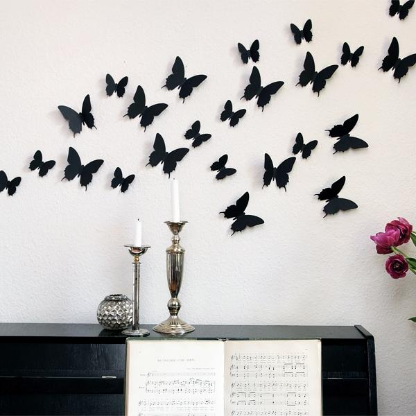 3d schmetterlinge wanddekoration wanddeko wandtattoos. Black Bedroom Furniture Sets. Home Design Ideas