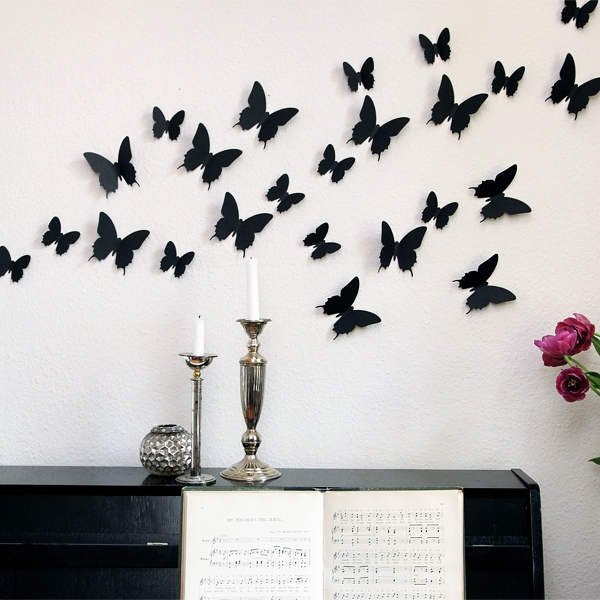 3d schmetterlinge wanddekoration wanddeko wandtattoos wandsticker wand deko neu ebay. Black Bedroom Furniture Sets. Home Design Ideas