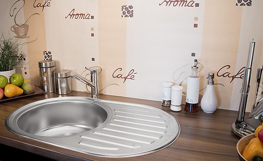 Edelstahl Küchenspüle Rundspüle Waschbecken Einbauspüle Spüle + Zub ...