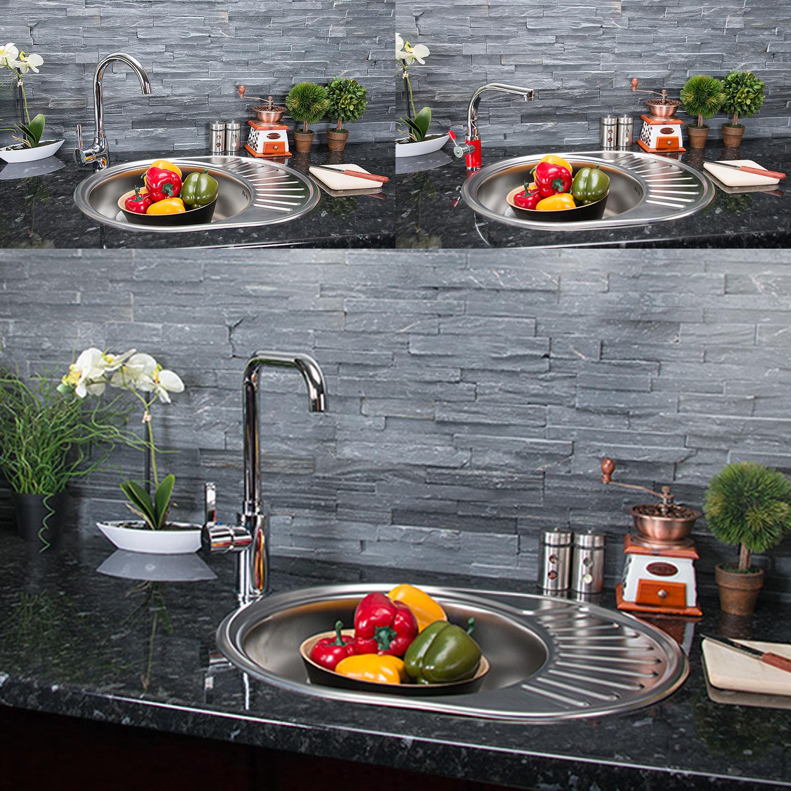 edelstahl k chensp le rundsp le einbausp le sp le zub. Black Bedroom Furniture Sets. Home Design Ideas