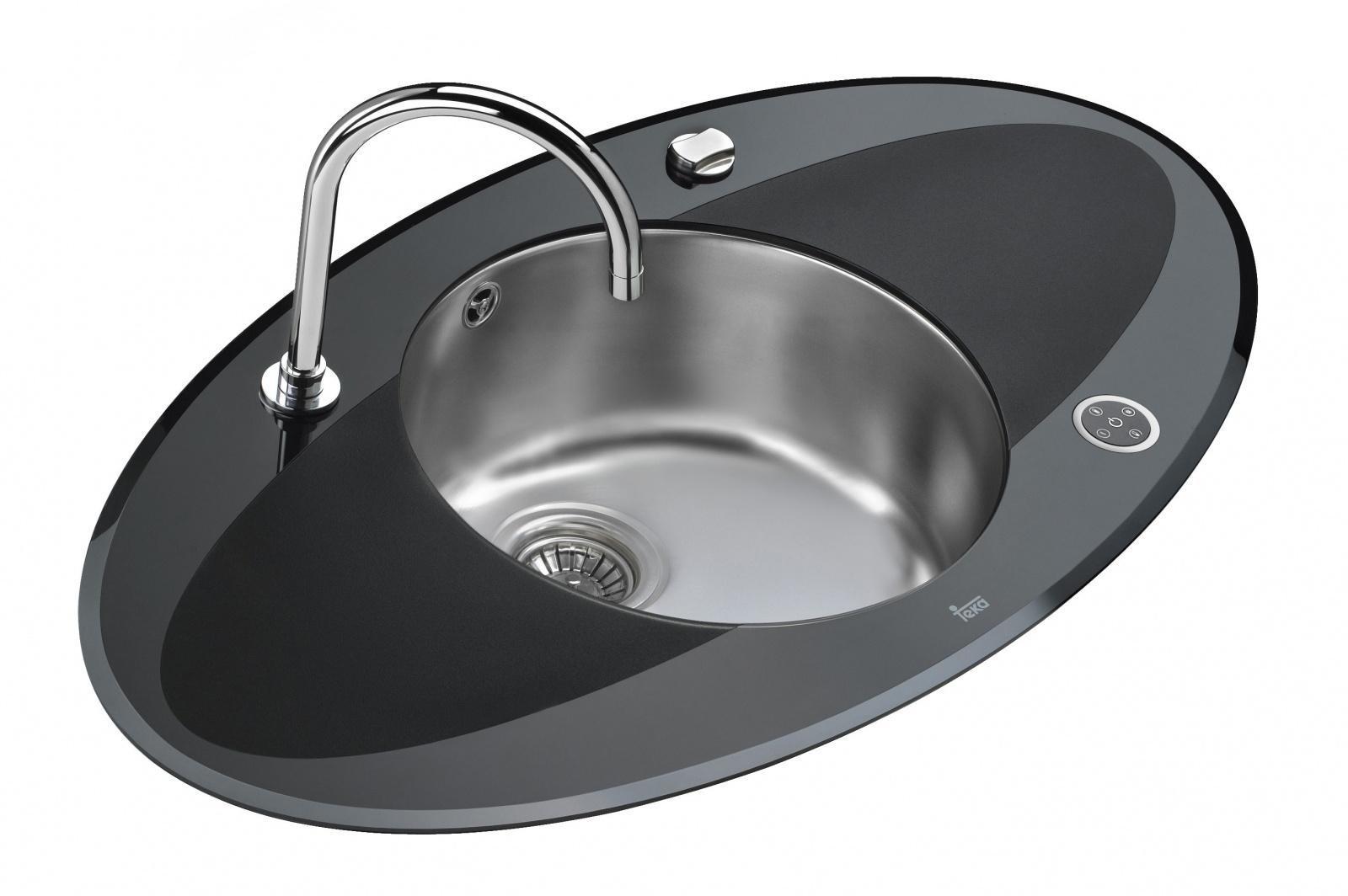 Teka edelstahl glas touch steueru einbauspüle spüle küchenspüle