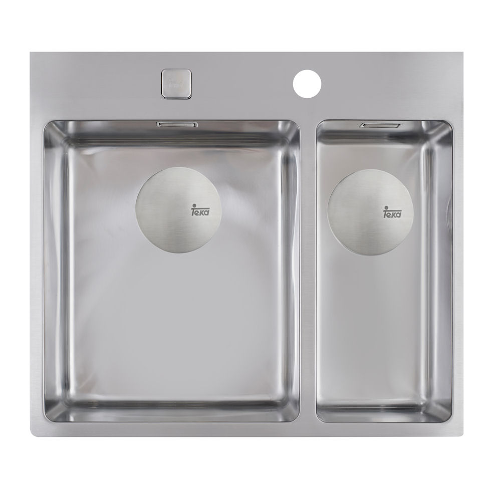 teka forlinea 2b 580 edelstahl poliert k chensp le einbausp le sp le sp lbecken. Black Bedroom Furniture Sets. Home Design Ideas