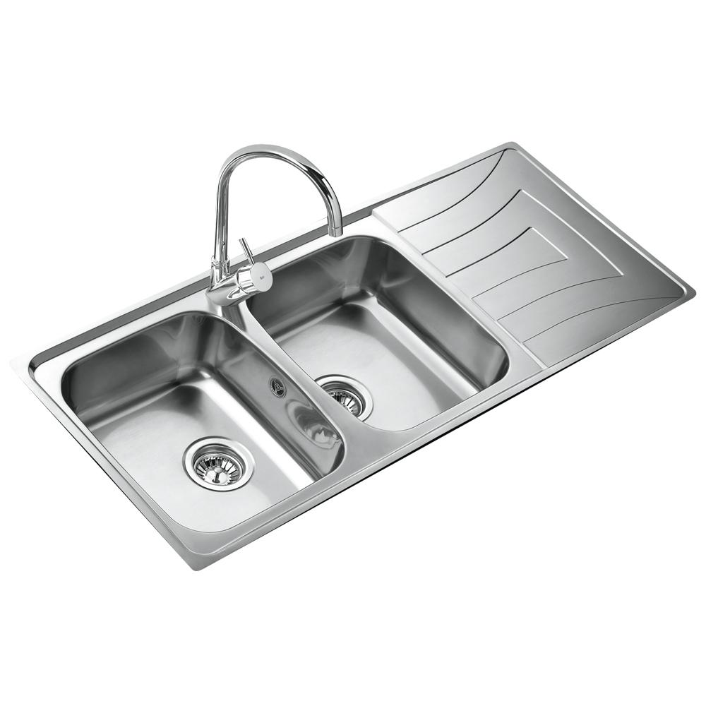 Teka 2 Becken Doppelspüle Edelstahl Küchenspüle  ~ Spülbecken Teka