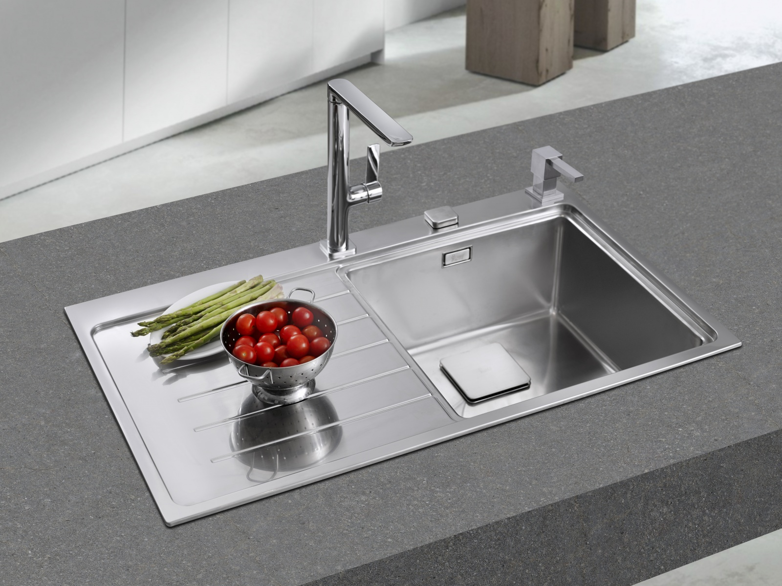 Teka Zenit 1B 1D Stainless steel Kitchen Sink Built in