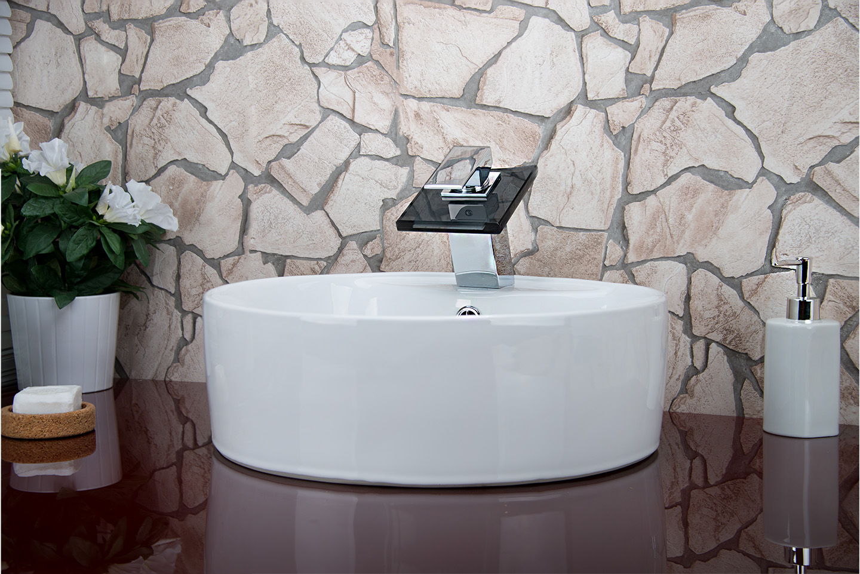 Acqua a cascata rubinetteria vetro rubinetto bagno 51 - Rubinetteria a cascata bagno ...
