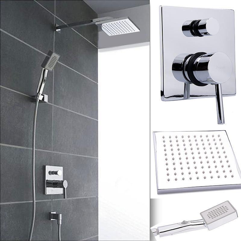 w68 regendusche komplett set regenbrause unterputz tropenschauer dusch armatur. Black Bedroom Furniture Sets. Home Design Ideas