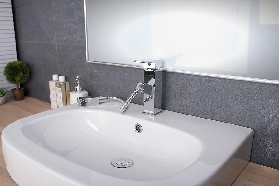w84 waschtisch waschbecken armatur badarmatur mit herausziehbarer handbrause neu ebay. Black Bedroom Furniture Sets. Home Design Ideas