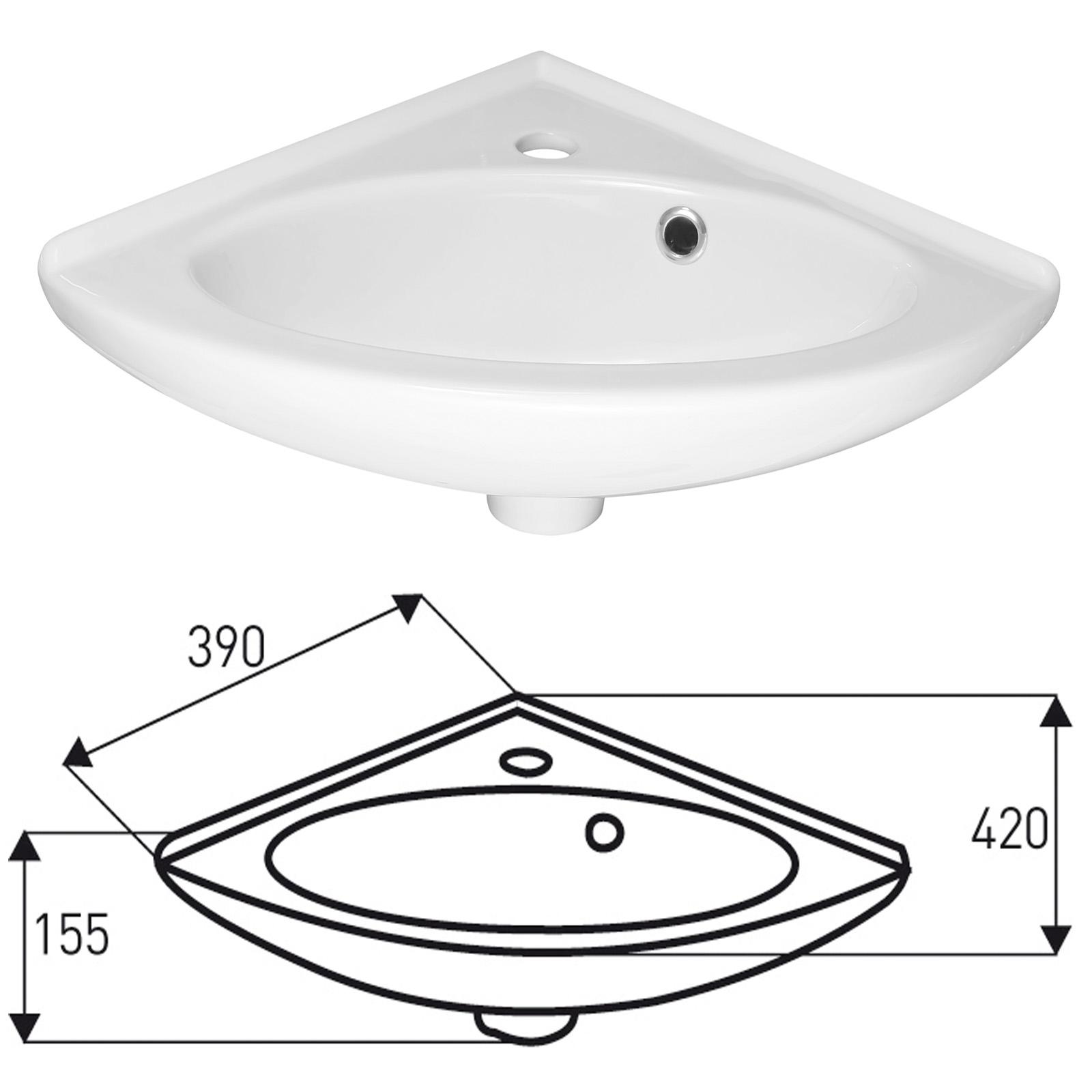 Design Eck-Handwaschbecken Hängewaschbecken Waschtisch Badezimmer ...