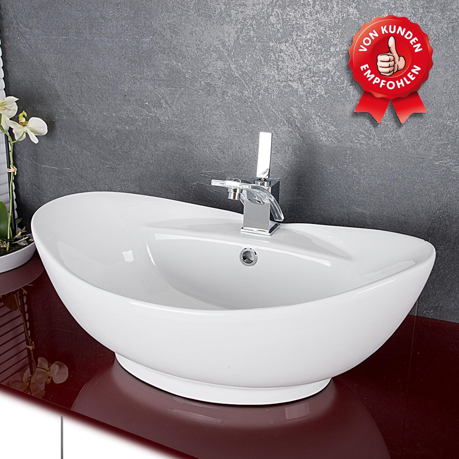 Design Keramik Waschschale Aufsatzwaschbecken Waschtisch Badezimmer ...