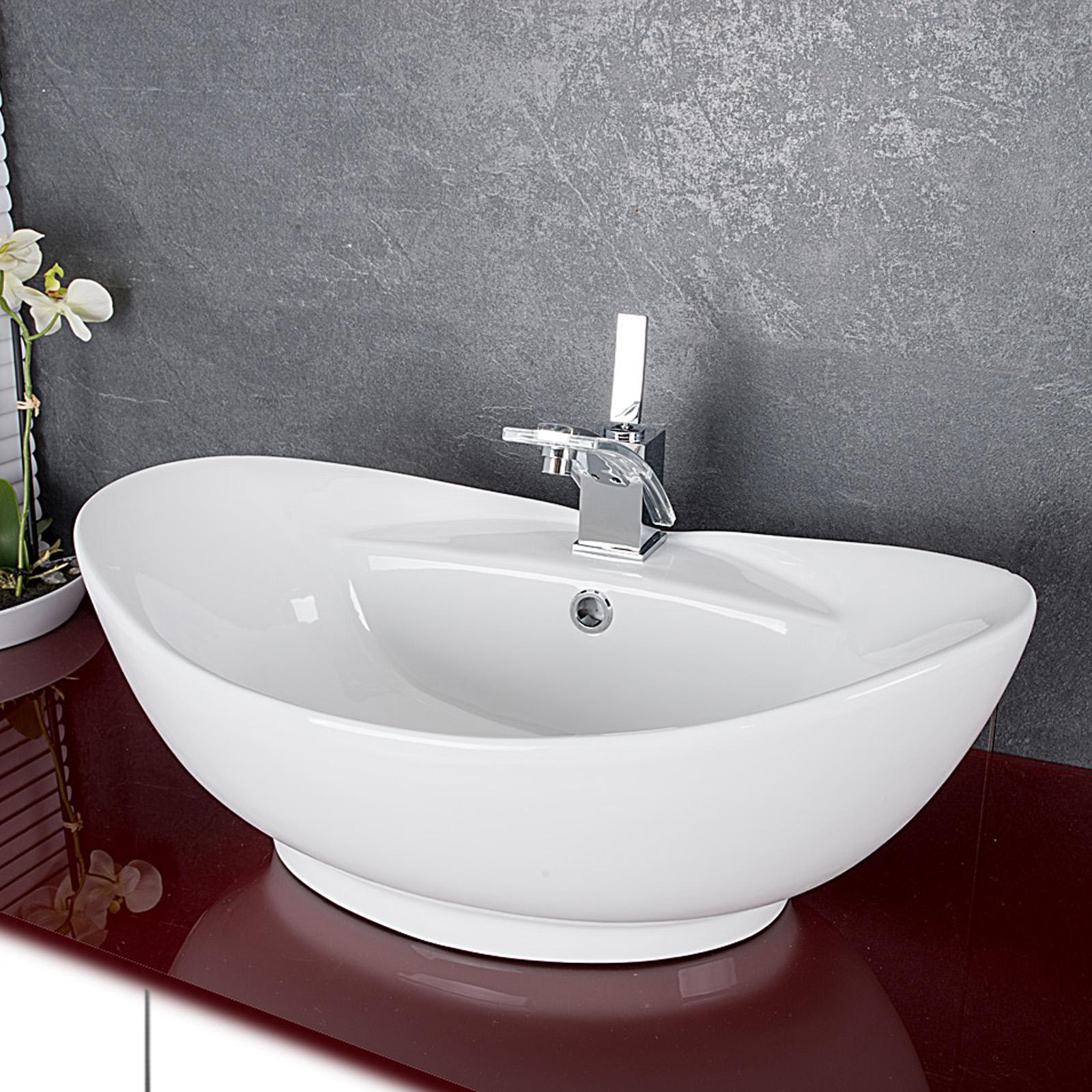 design keramik waschschale aufsatzwaschbecken waschtisch badezimmer waschplatz ebay. Black Bedroom Furniture Sets. Home Design Ideas