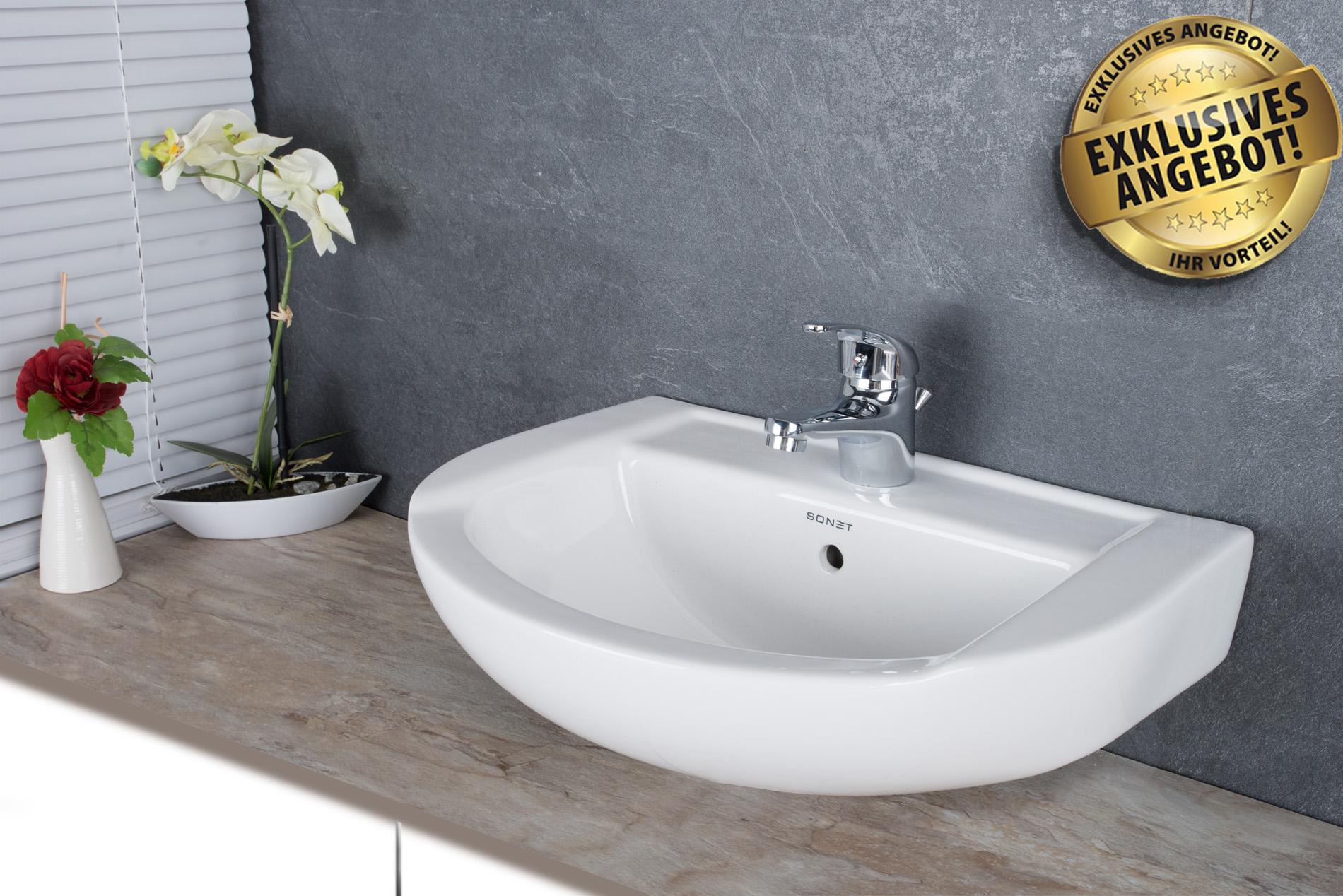 Aufsatzwaschbecken Hängewaschbecken Waschschale Keramik Badezimmer ...